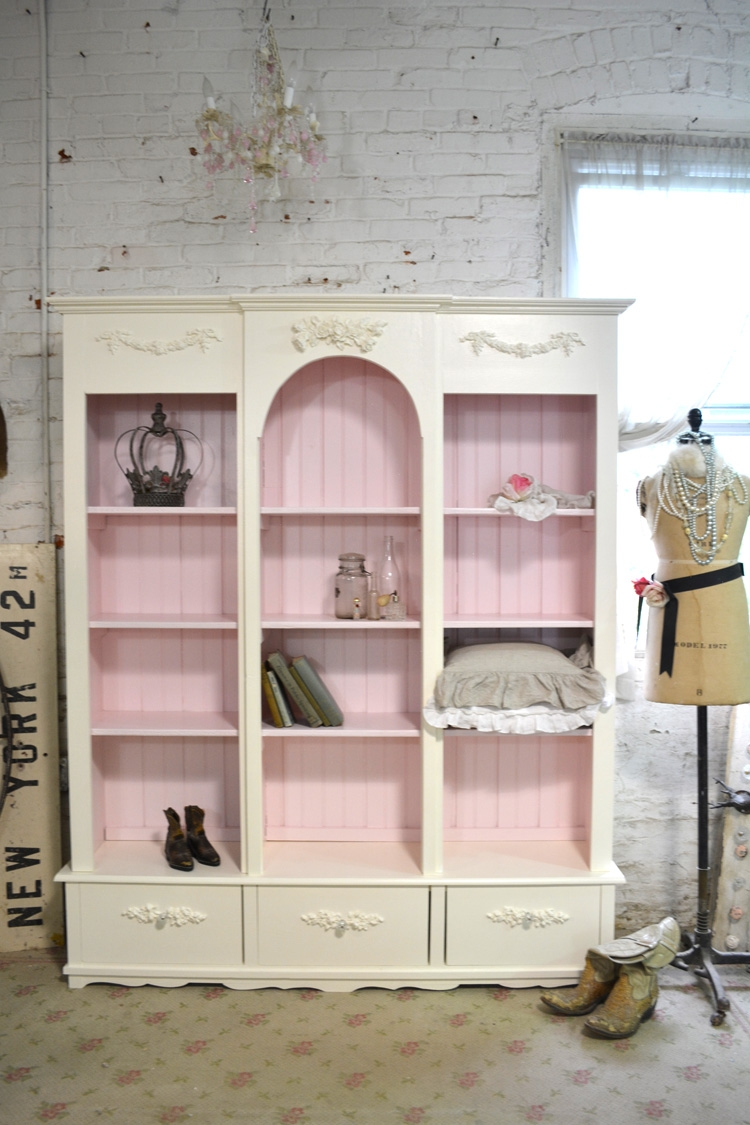 Painted Cottage Bookcase With Handmade Bookcases (#15 of 15)