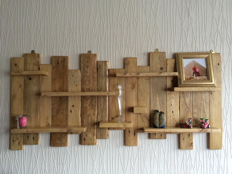 Pallet Shelf Etsy Inside Handmade Wooden Shelves (#10 of 15)