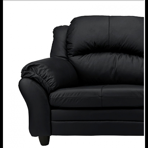 Paloma 3 Seater Sofa Free 2 Seater Sofa Black Furnico Village Regarding Black 2 Seater Sofas (#13 of 15)