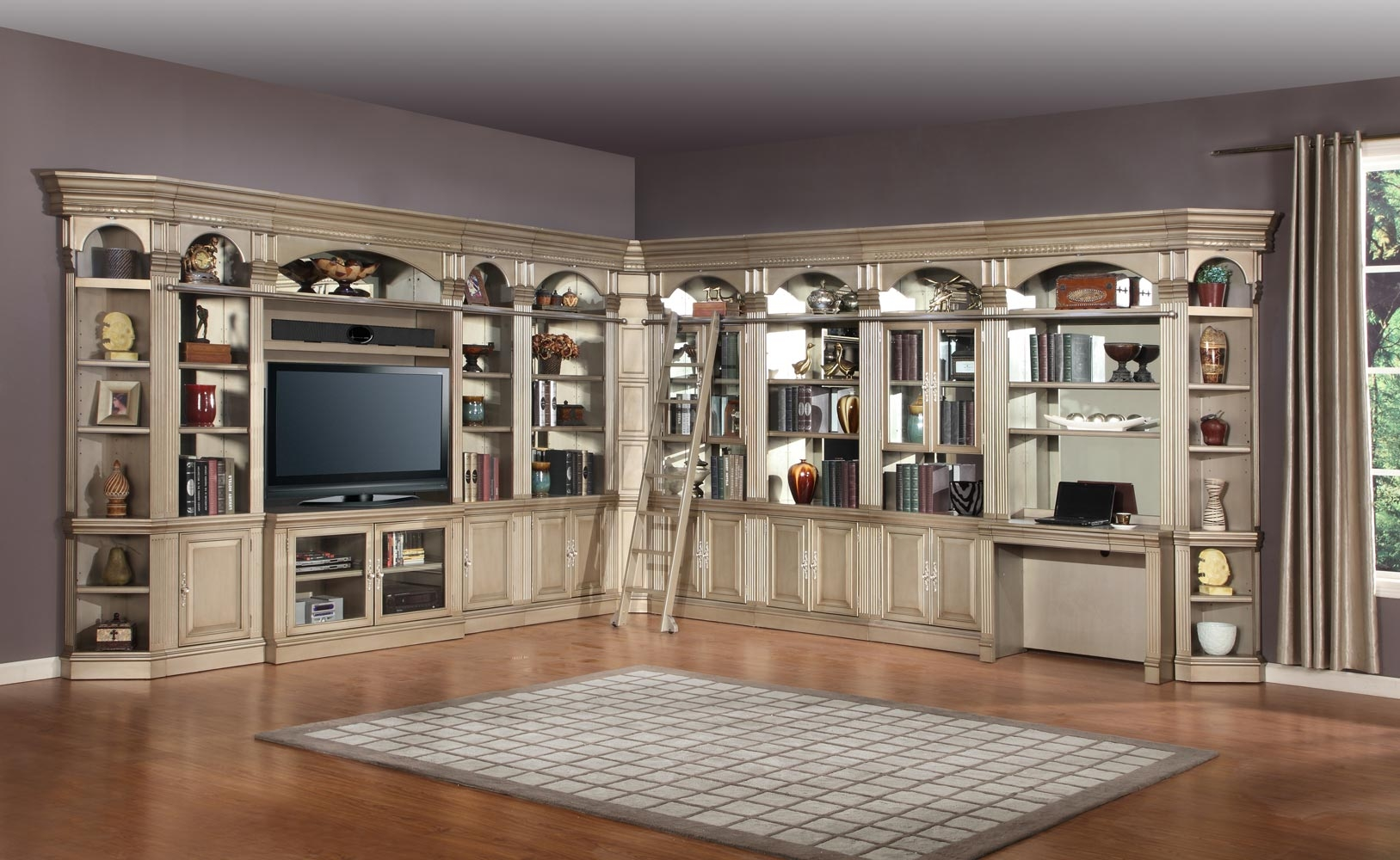 Parker House Allure Full Wall Library Bookcase Set 2 Ph All Set K Intended For Wall Library Bookcase (View 11 of 15)