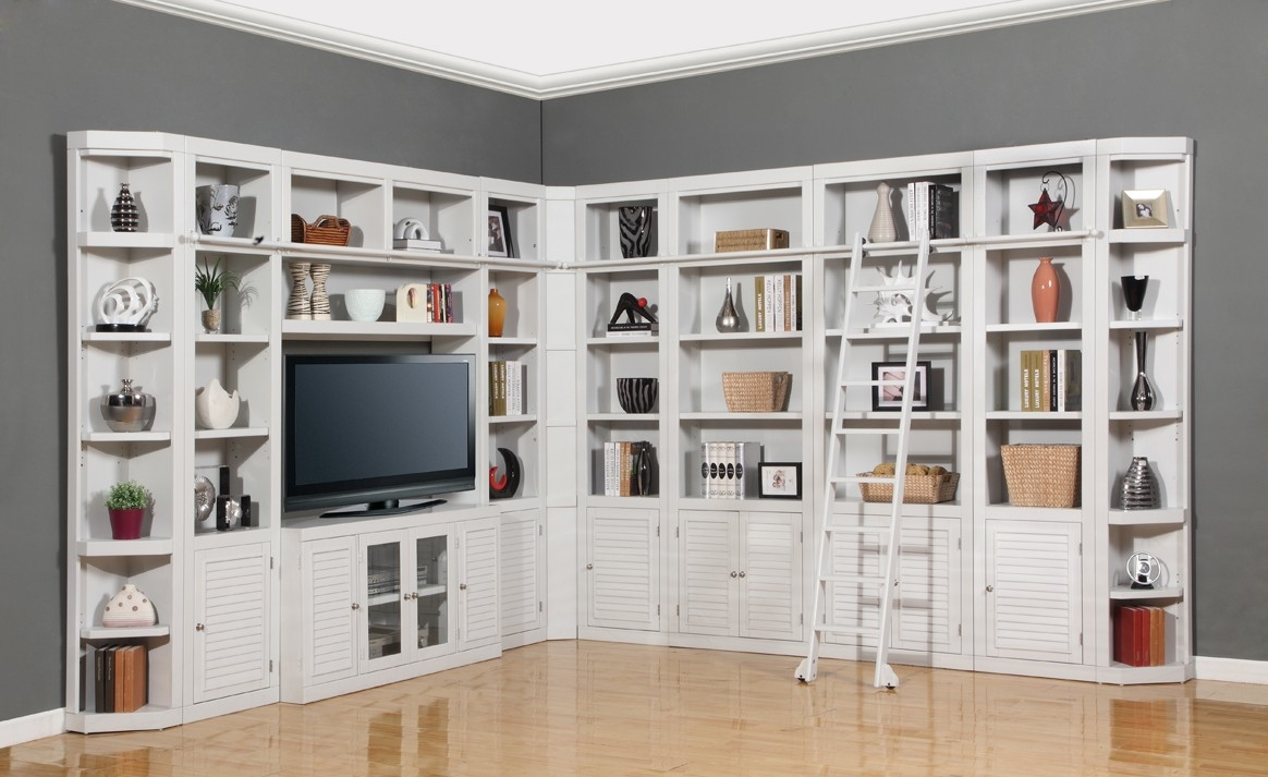 Parker House Boca 11pc Corner Library Bookcase Wall Unit In Within Library Bookcase Wall Unit (View 9 of 15)