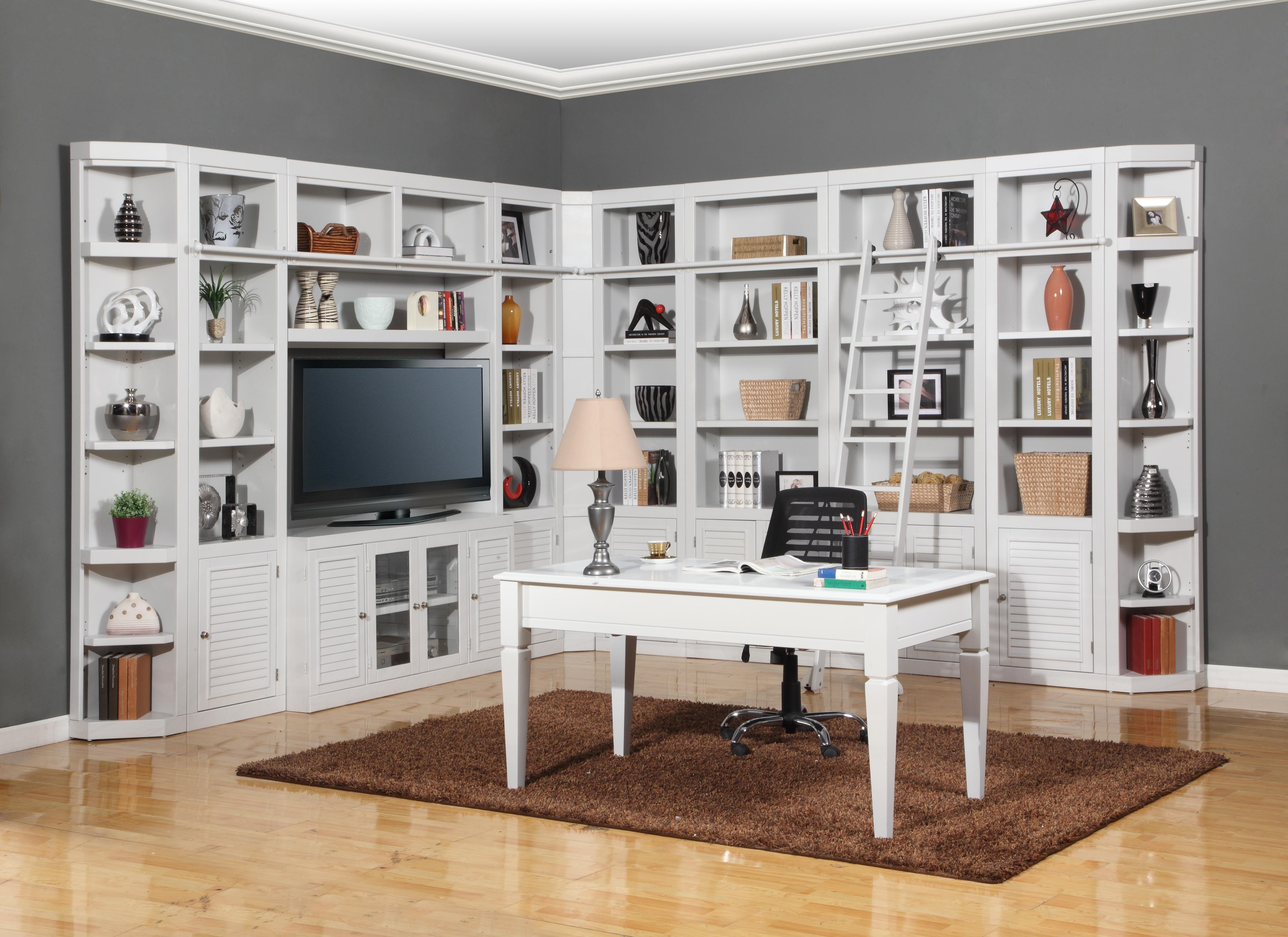 Parker House Boca Expanded Library Wall Unit Wayside Furniture Intended For Library Bookcase Wall Unit (#10 of 15)