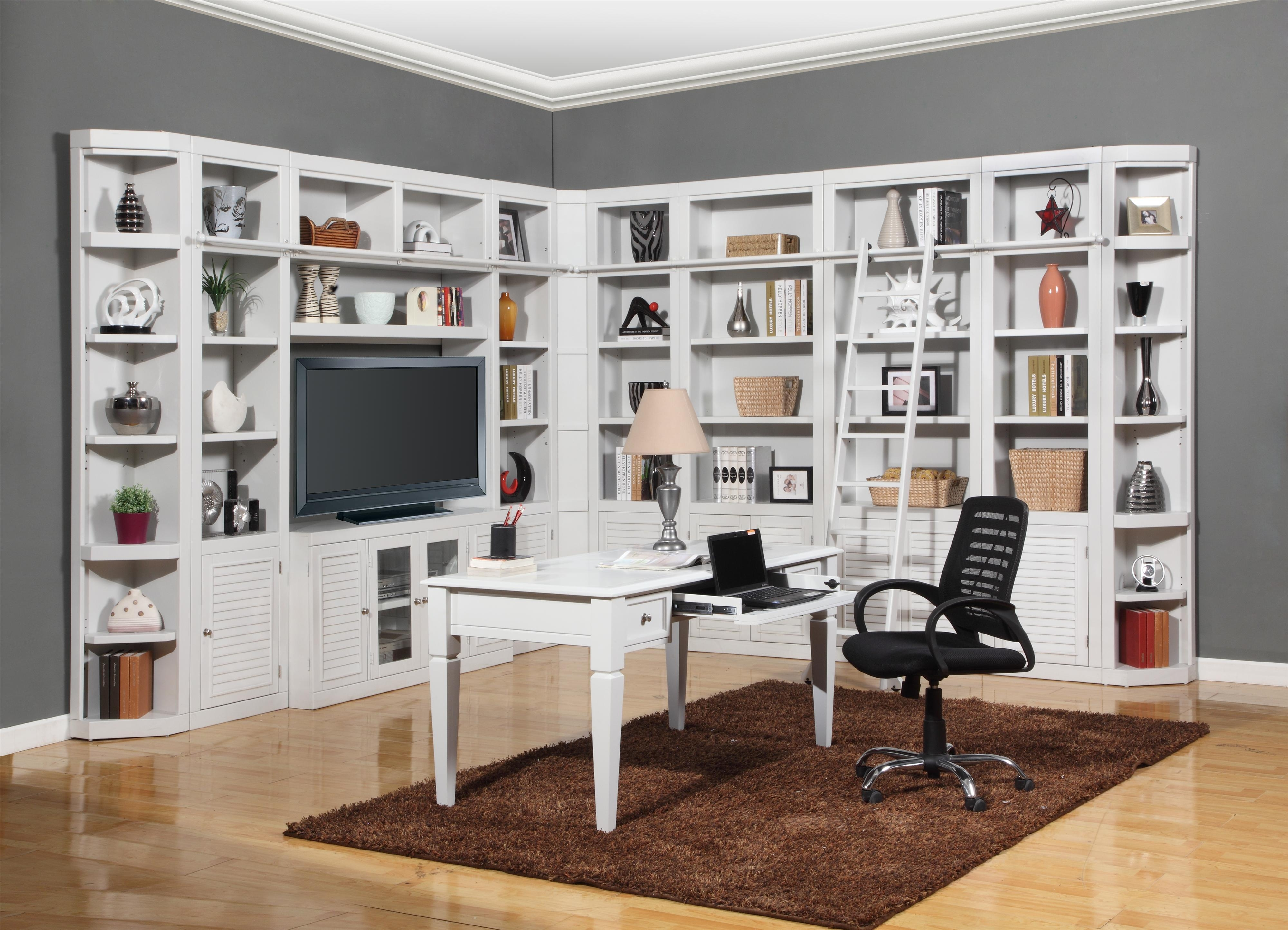 Parker House Boca Expanded Library Wall Unit Wayside Furniture With Regard To Bookcase Library Wall Unit (#9 of 15)