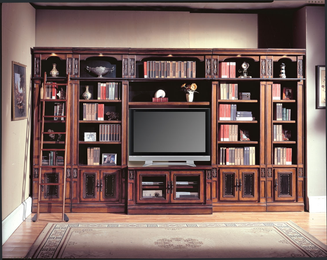 Parker House Davinci Library Entertainment Wall Unit 60in Ph Inside Home Library Wall Units (View 11 of 15)