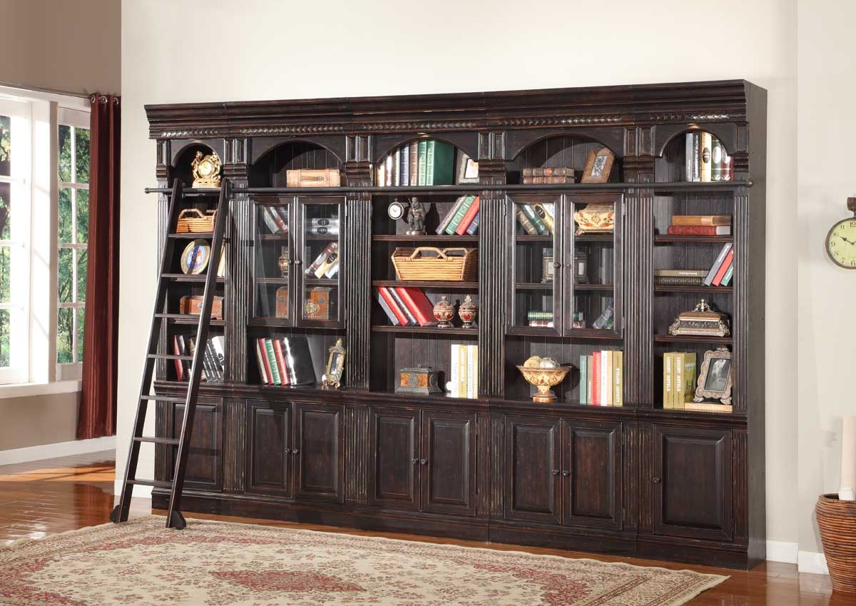 Parker House Venezia Library Bookcase Wall Unit E Ph Venset K Pertaining To Library Wall Units Bookcase (#13 of 15)