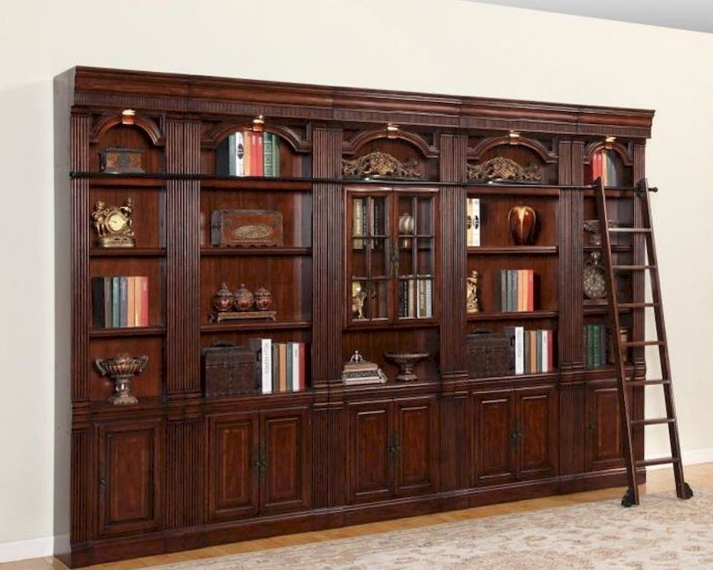 Parker House Wellington Library Bookcase Wall Set Phwel Set3 With Regard To Bookcase Library Wall Unit (#13 of 15)