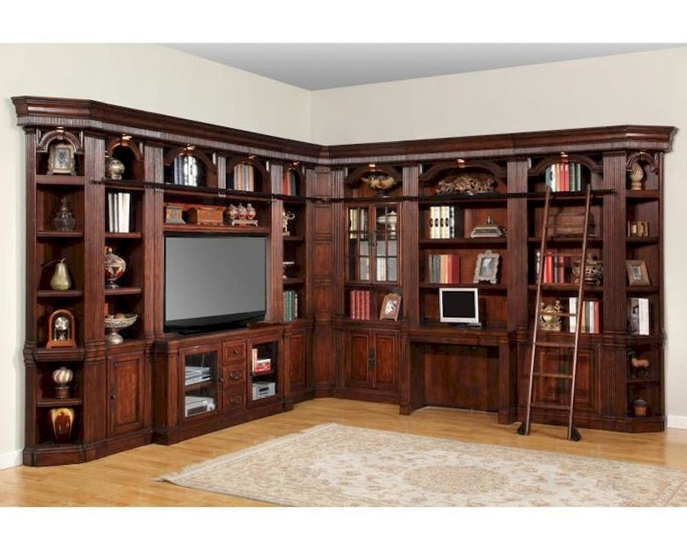 Parker House Wellington Library Wall Unit Phwel Set1 In Library Bookcase Wall Unit (#14 of 15)