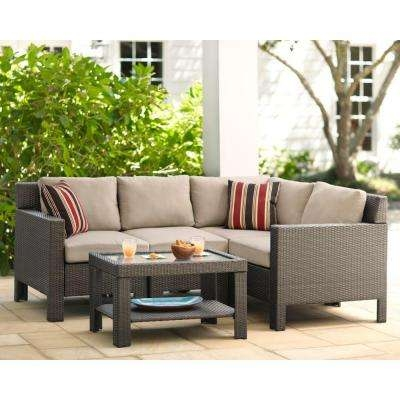 Patio Conversation Sets Outdoor Lounge Furniture The Home Depot Inside Cheap Patio Sofas (#9 of 15)