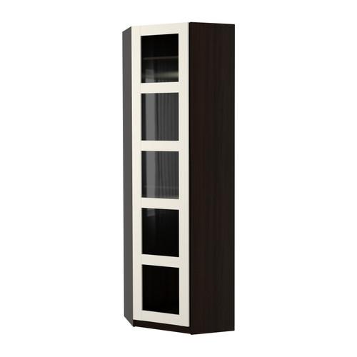 Pax Corner Wardrobe Undredal Blackglass White 7373×236 Cm Ikea In Corner Wardrobe Closet IKEA (#13 of 15)