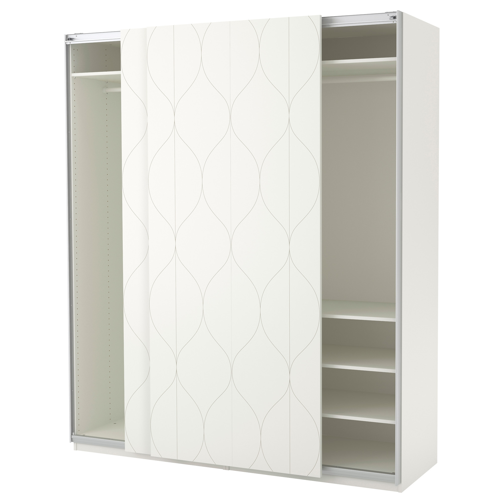 Pax System Combinations With Doors Ikea With Fitted Wardrobe Depth (View 7 of 15)
