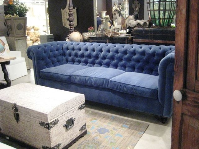Peacock Blue Velvet Tufted Sofa Recent Photos The Commons Getty Pertaining To Blue Tufted Sofas (#13 of 15)