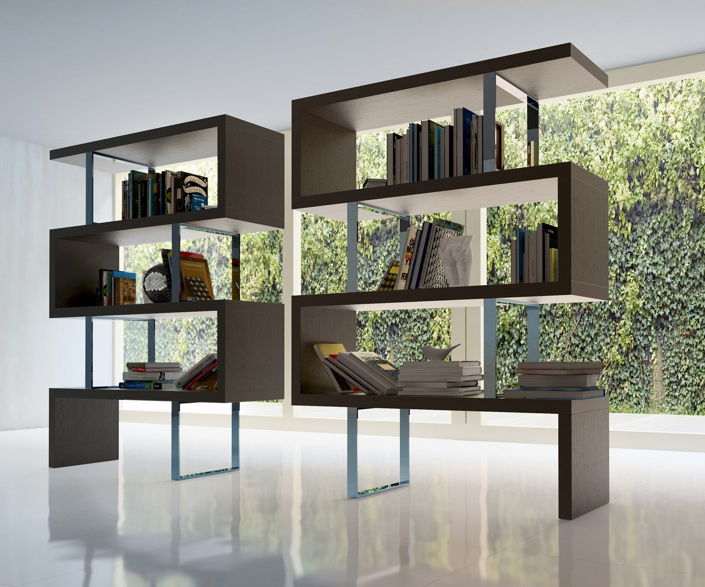 Pearl Modern Bookcase Regarding Modern Bookcase (View 4 of 15)