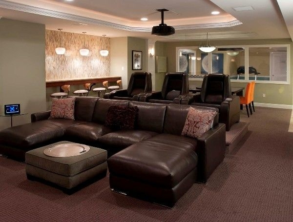 Perfect Theater Room Sofas Media Furniture Sweet False Ceiling Pertaining To Theater Room Sofas (#13 of 15)