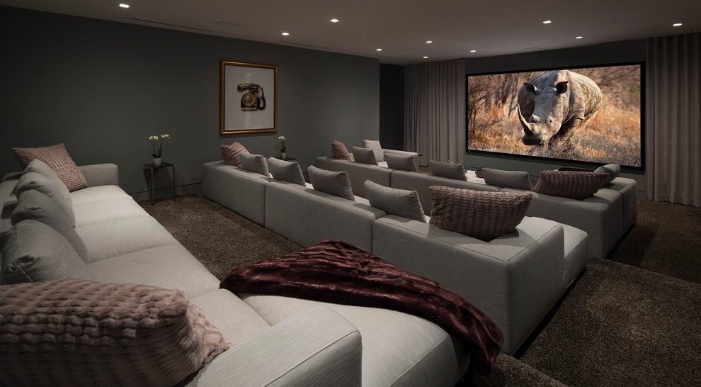 Perfect Theater Room Sofas Media Furniture Sweet False Ceiling Throughout Theater Room Sofas (#14 of 15)