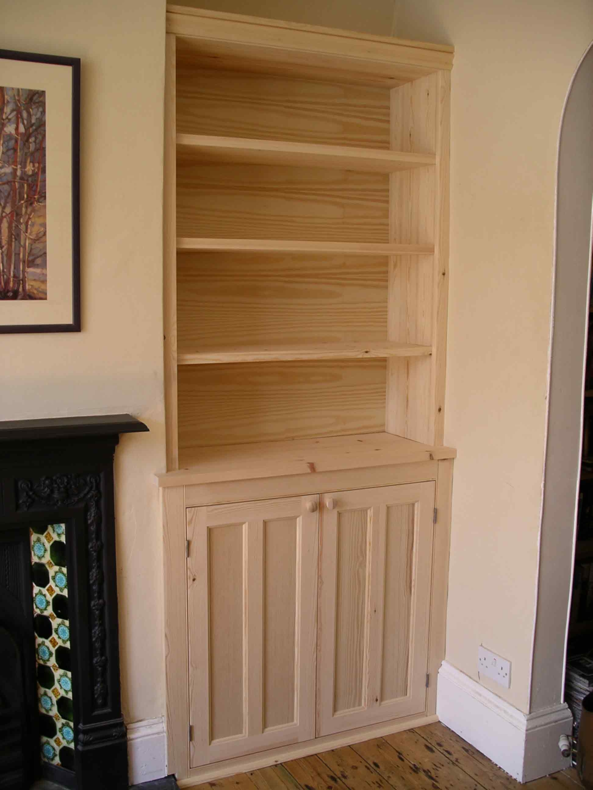 Period Style Alcove Cabinet In Solid Softwood Ready For Painting With Regard To Alcove Wardrobes Designs (View 14 of 15)