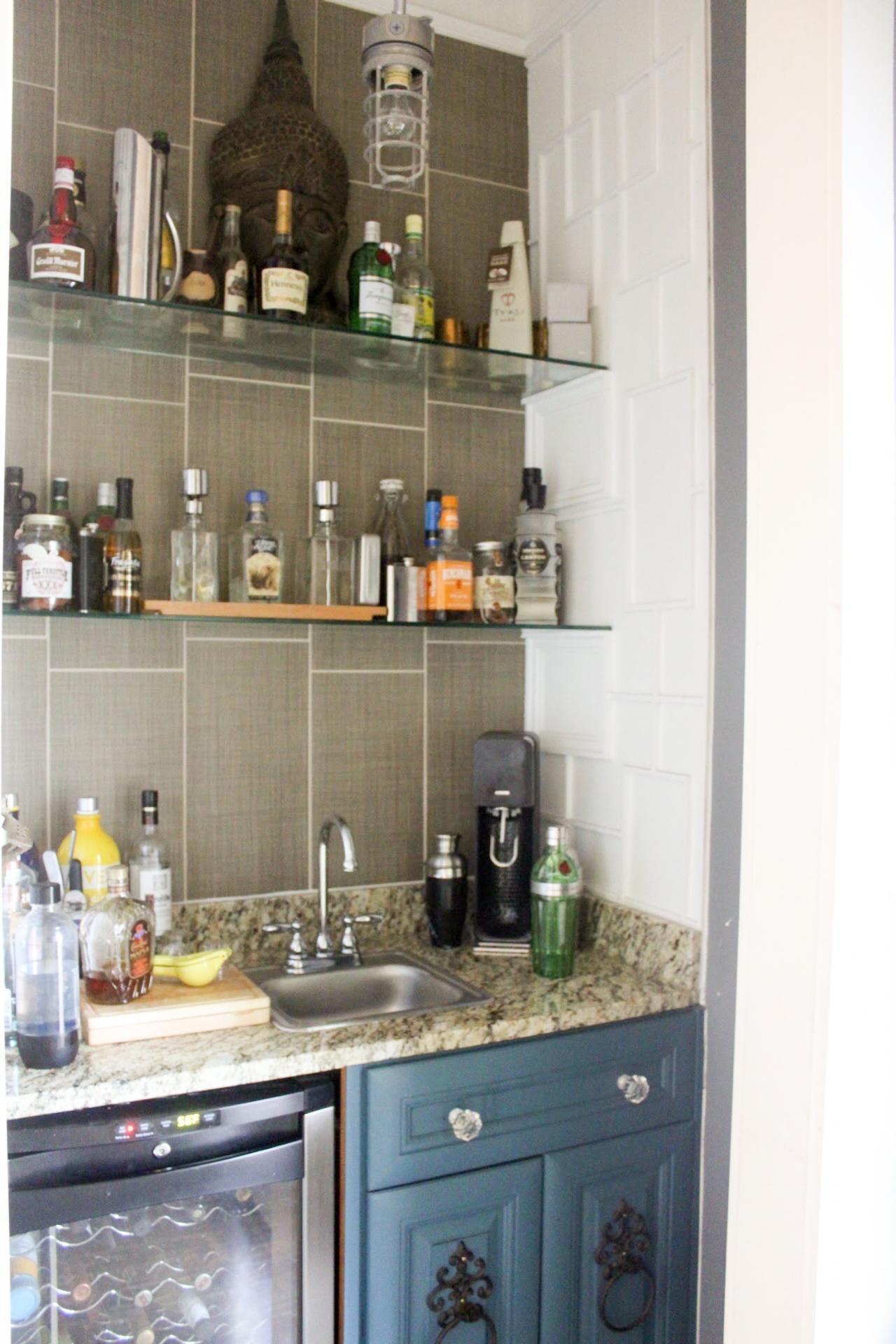 Photos Flea Market Flip Hgtv Throughout Glass Shelves For Bar Area (#10 of 12)