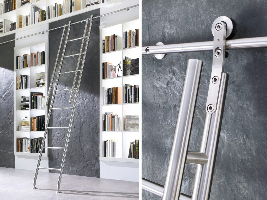 Picturesque Sliding Ladder Kit Roselawnlutheran Regarding Library Ladder Kit (View 12 of 15)