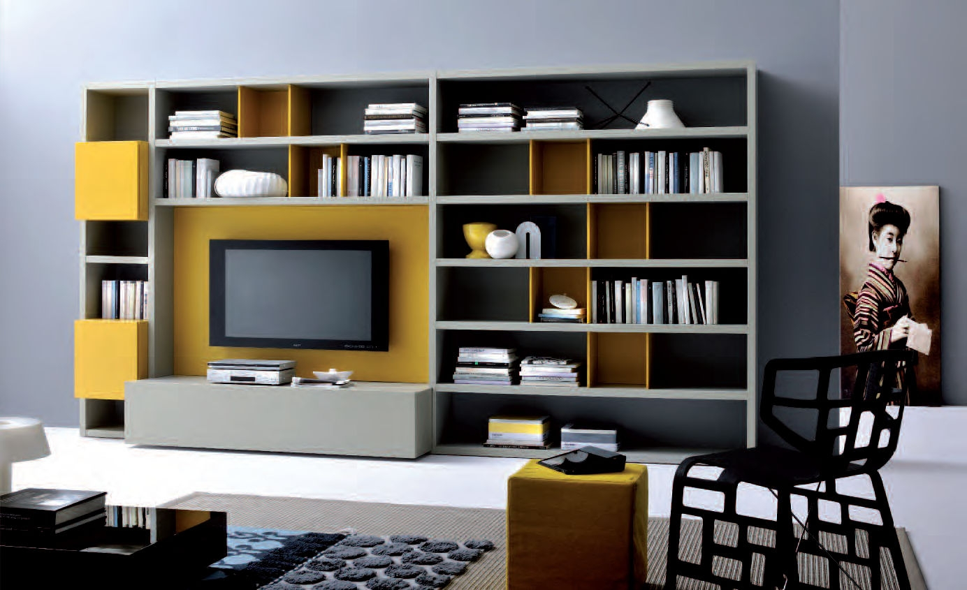 Popular Photo of Bookshelf With Tv Space