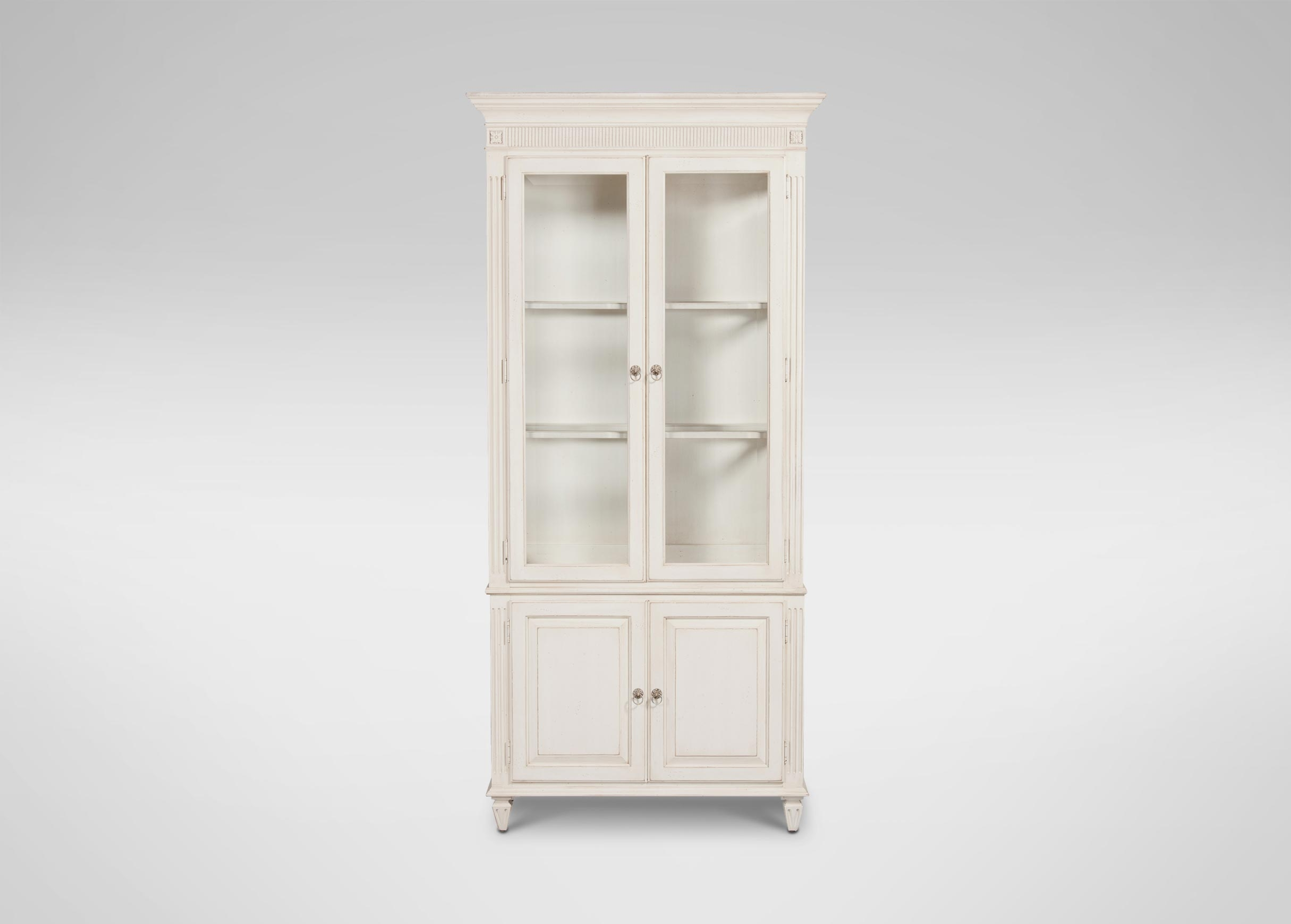 Pirre Curio Cabinet Cabinets Chests With Regard To Bookcase With Bottom Cabinets (#11 of 15)