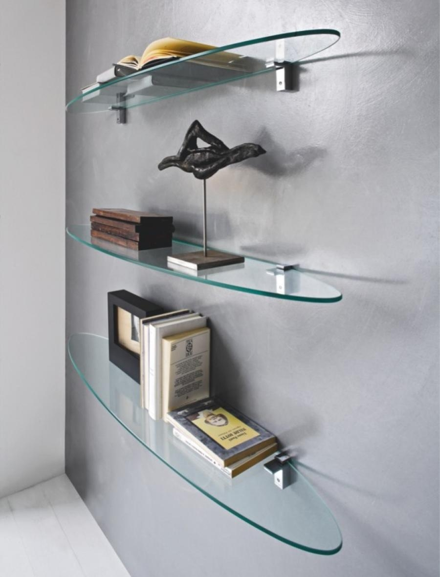 Popular Photo of Glass Shelves For Living Room