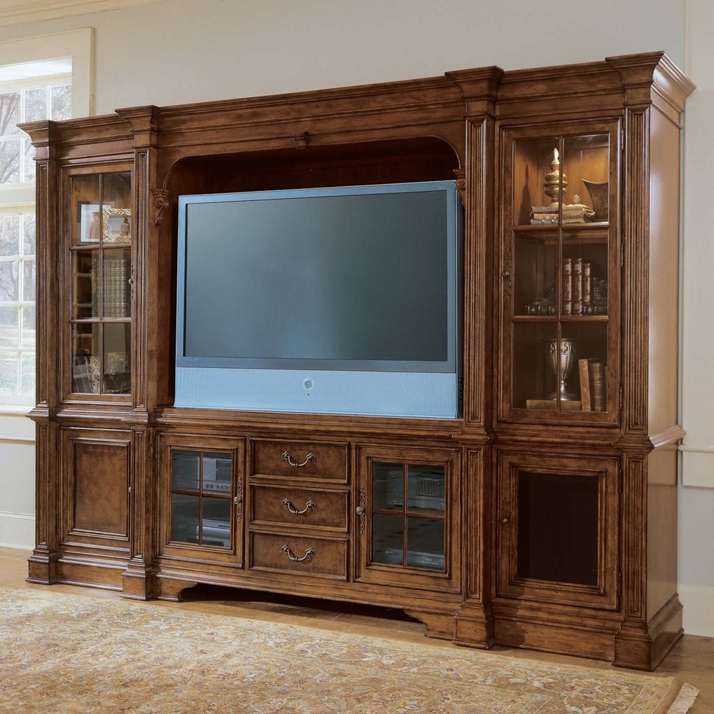 Plasma Console Deck Tv Stand Villa Cortina Bookcase Included Tv Pertaining To Bookcase Tv Stand (#10 of 15)