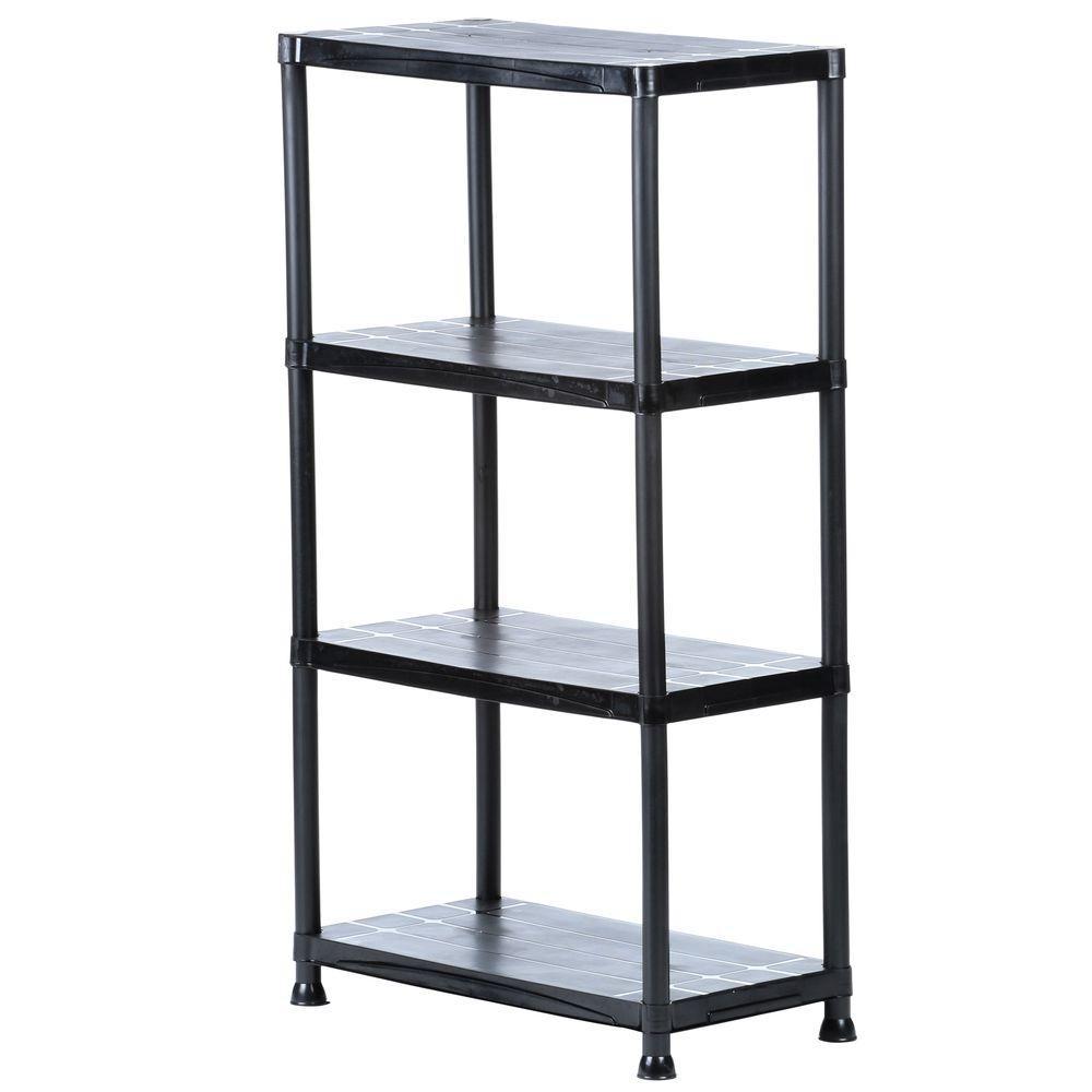 Plastic Garage Shelving Units Garage Shelves Racks The Intended For Storage Shelving Units (#13 of 15)