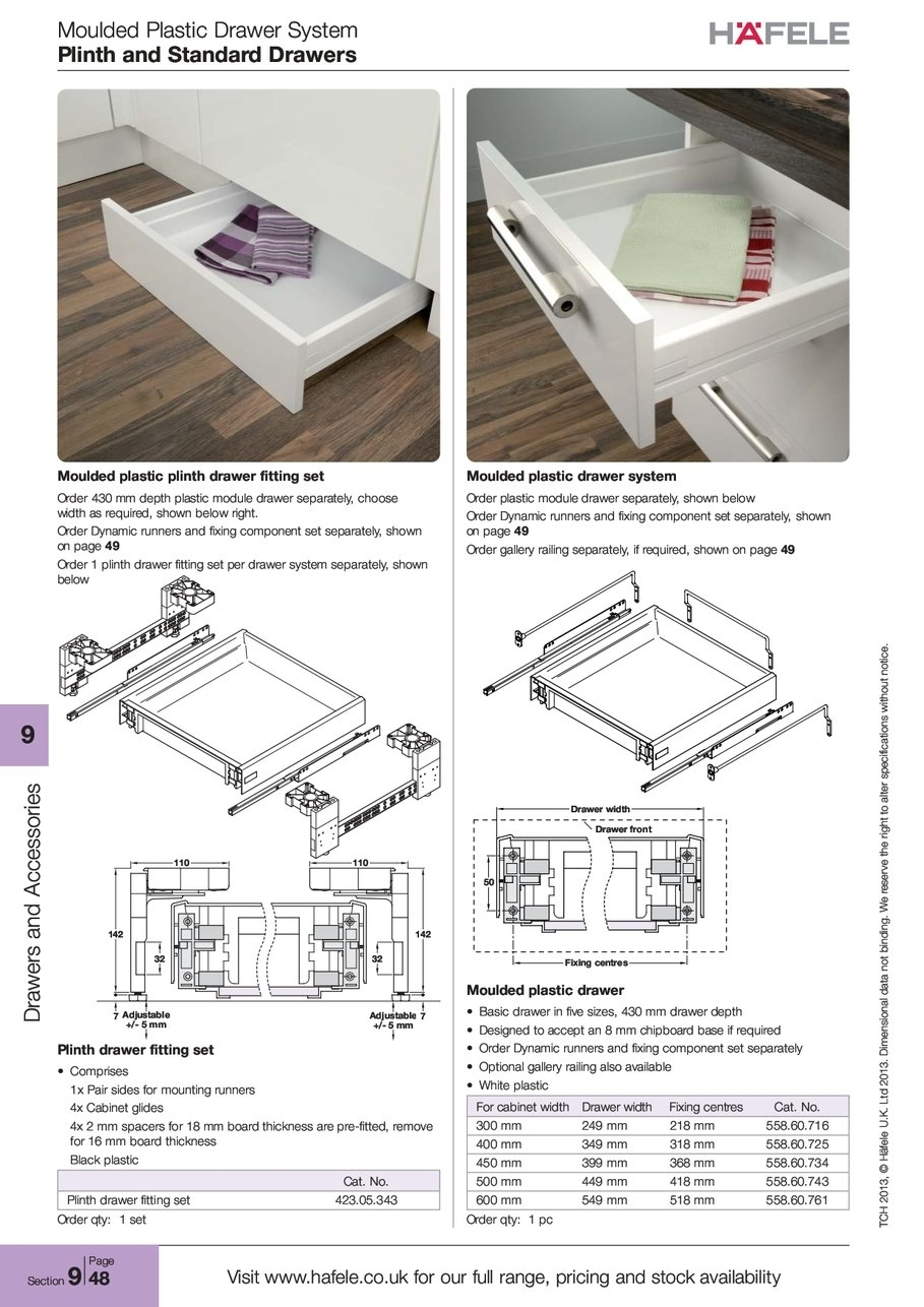 Plinth Standard Drawers Regarding Plinth Drawers (#11 of 15)