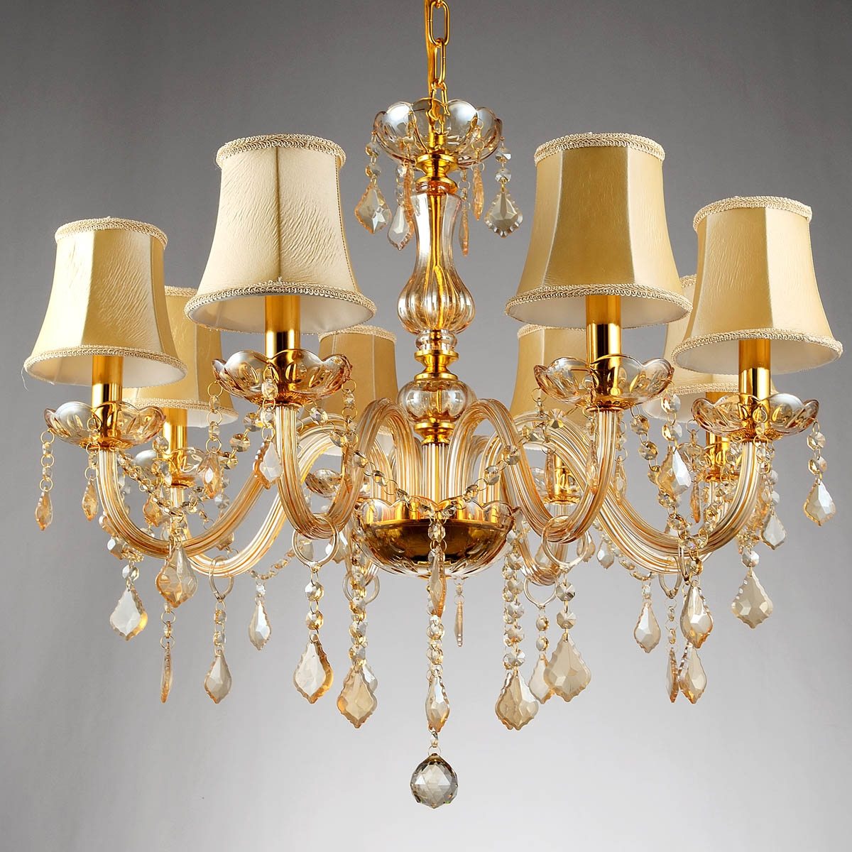 Popular Champagne Chandeliers Buy Cheap Champagne Chandeliers Lots Intended For Crystal Gold Chandelier (#11 of 12)