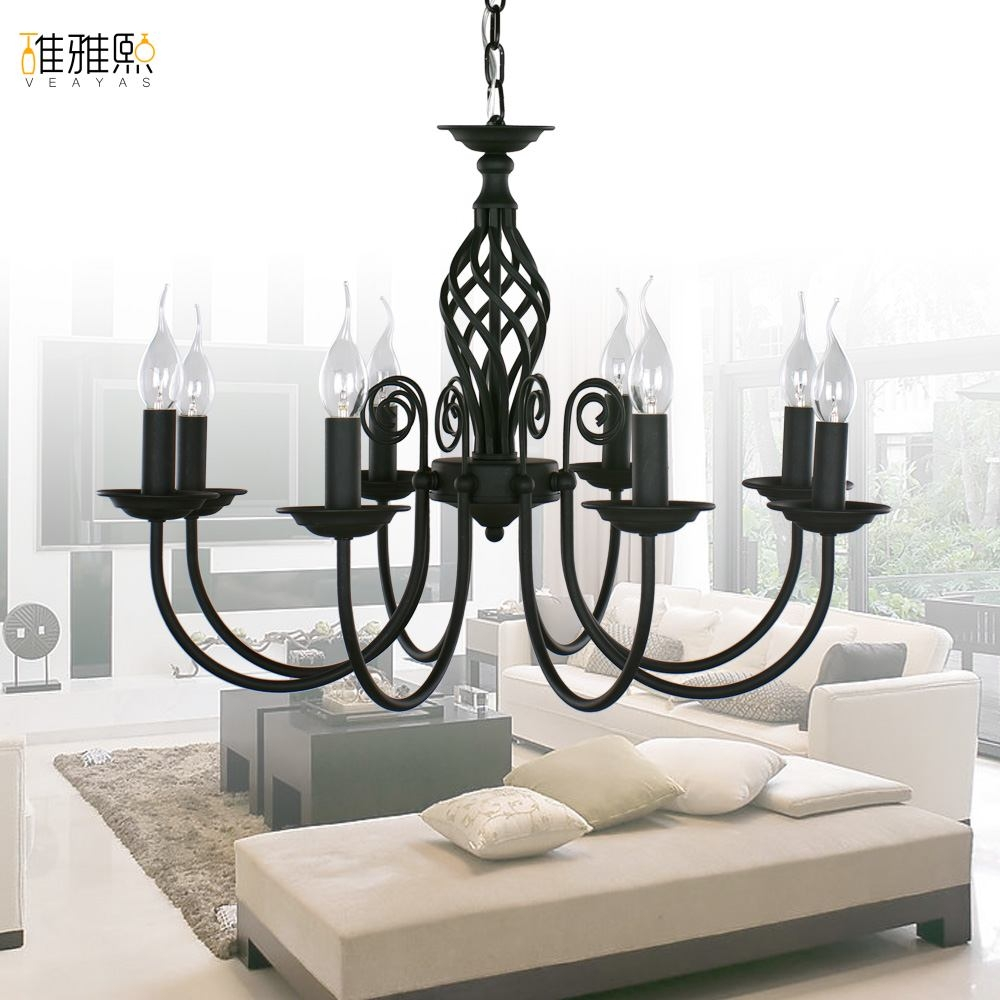 12 Collection Of Modern Black Chandelier