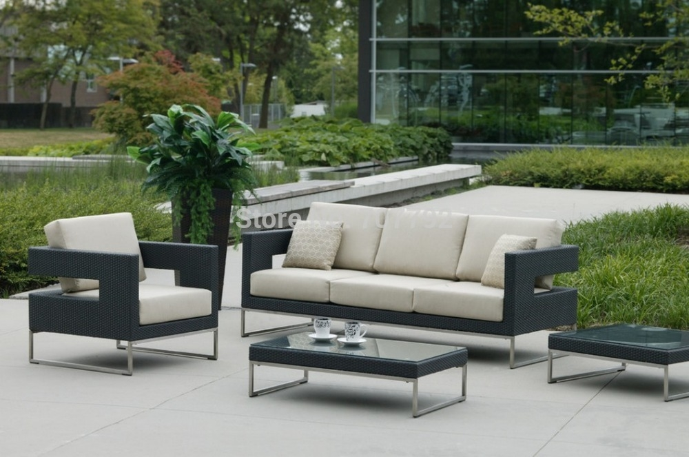 Popular Rattan Patio Sofa Buy Cheap Rattan Patio Sofa Lots From With Cheap Patio Sofas (#15 of 15)