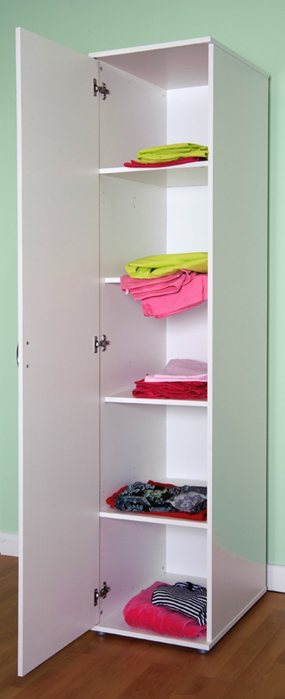 Precisely Single Door Wardrobe With Shelves 97 Towards Attractive Within Wardrobe With Shelves (#8 of 15)