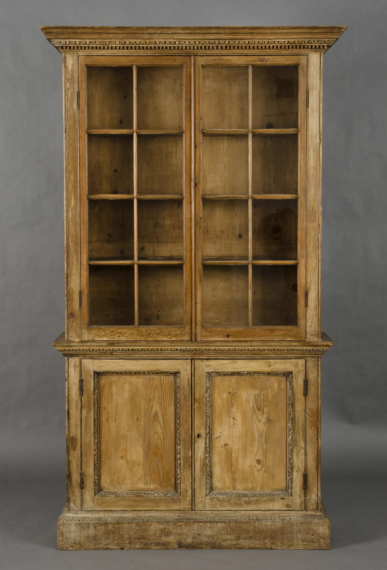 Product Pair Pine Glazed Bookcases Regarding Glazed Bookcases (#14 of 15)