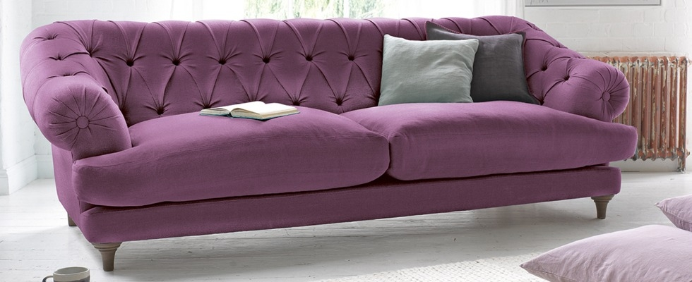 Popular Photo of Velvet Purple Sofas