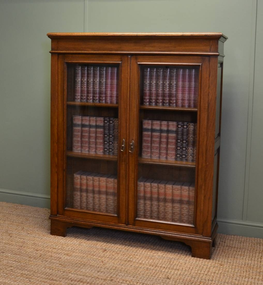 Inspiration about Quality Antique Victorian Oak Glazed Bookcase Antiques World Intended For Oak Glazed Bookcase (#3 of 15)