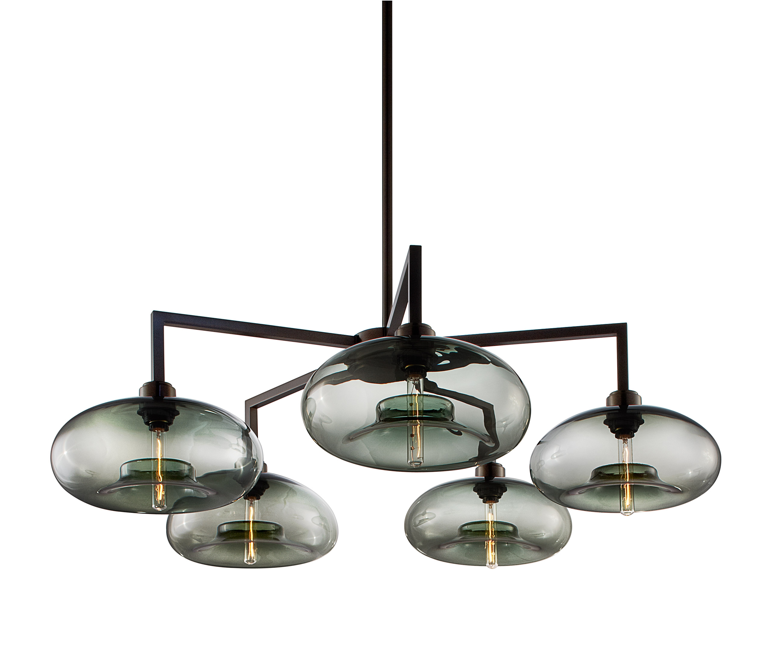 Quill 5 Modern Chandelier On Designer Pages Throughout Modern Chandelier (#12 of 12)
