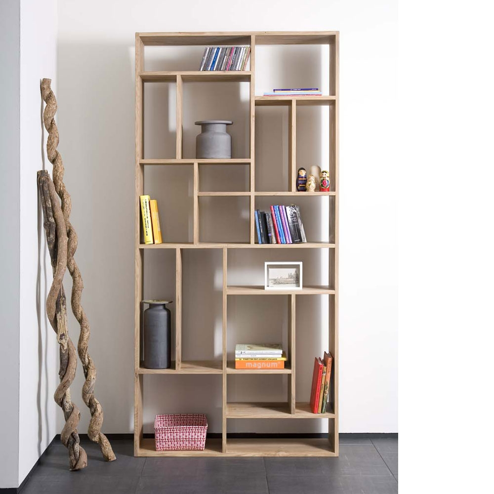 Inspiration about Quirky Bookcase Solid Oak Tall Bookcase Solid Oak Bookcases With Regarding Contemporary Oak Bookcase (#4 of 15)