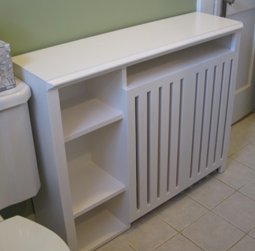 Radiator Enclosure Cabinet Custom Built For A Small Bathroom In Radiator Cover And Bookcase (#14 of 15)