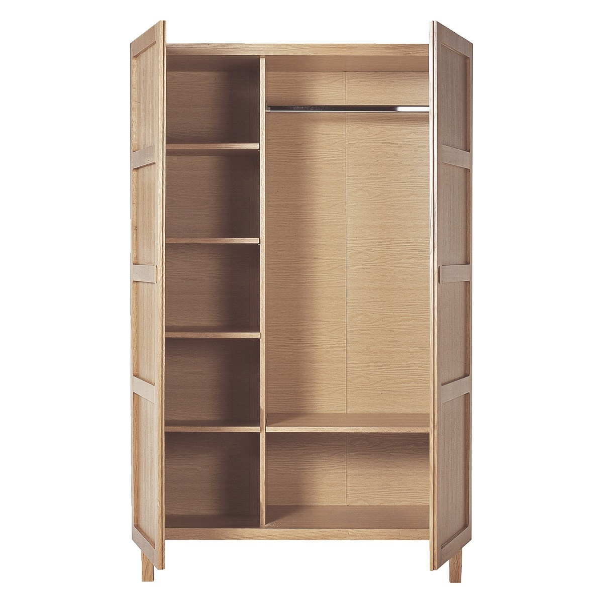 Radius Oak 2 Door Wardrobe Buy Now At Habitat Uk Regarding Wardrobes With Shelves And Drawers (View 14 of 15)