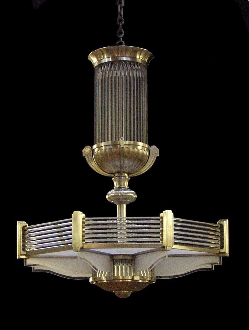 Popular Photo of Large Art Deco Chandelier