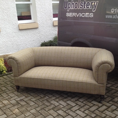 Re Upholstery Chesterfield Sofa West Fenton Advanced Upholstery Throughout Tweed Fabric Sofas (#12 of 15)