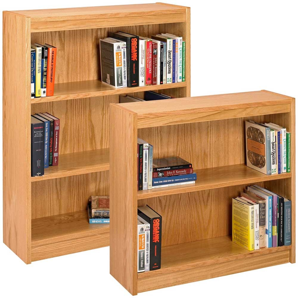 Real Wood Bookshelves Idi Design Within Wooden Bookcases (View 10 of 15)