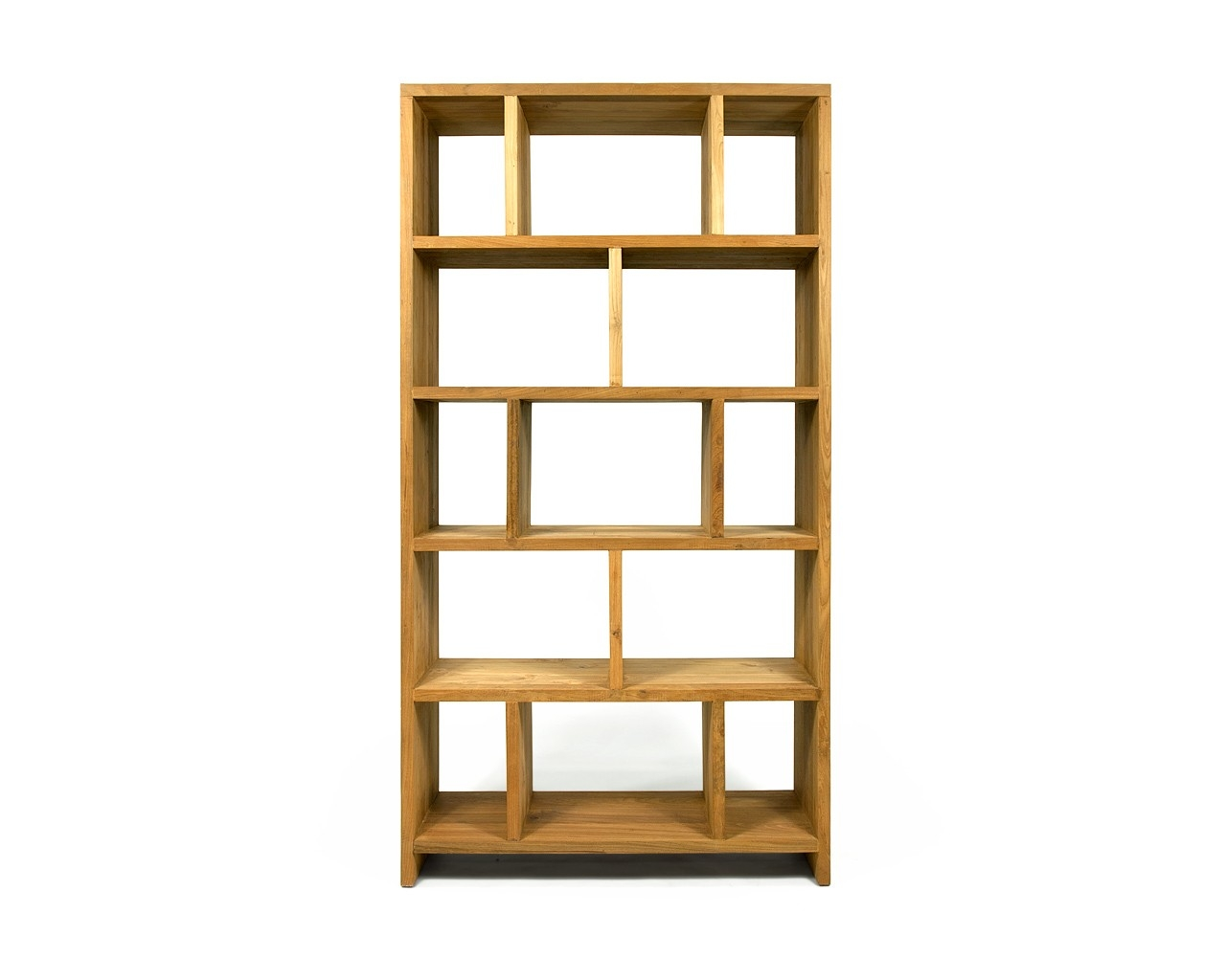 Reclaimed Teak Bookcase Contemporary Wooden Shelving With Contemporary Oak Bookcase (#14 of 15)