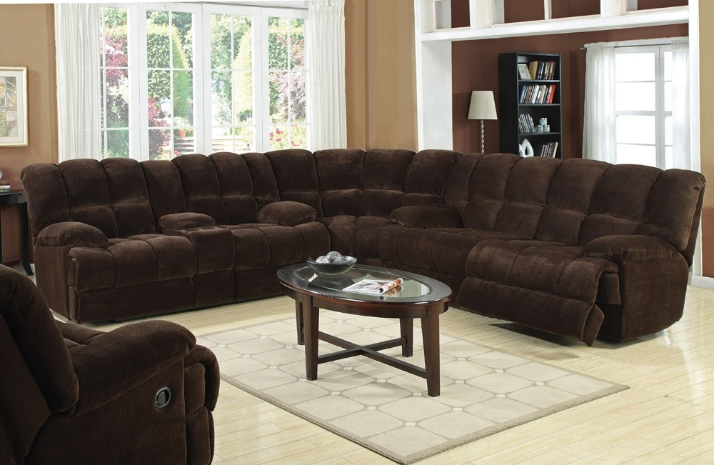 Popular Photo of Recliner Sectional Sofas