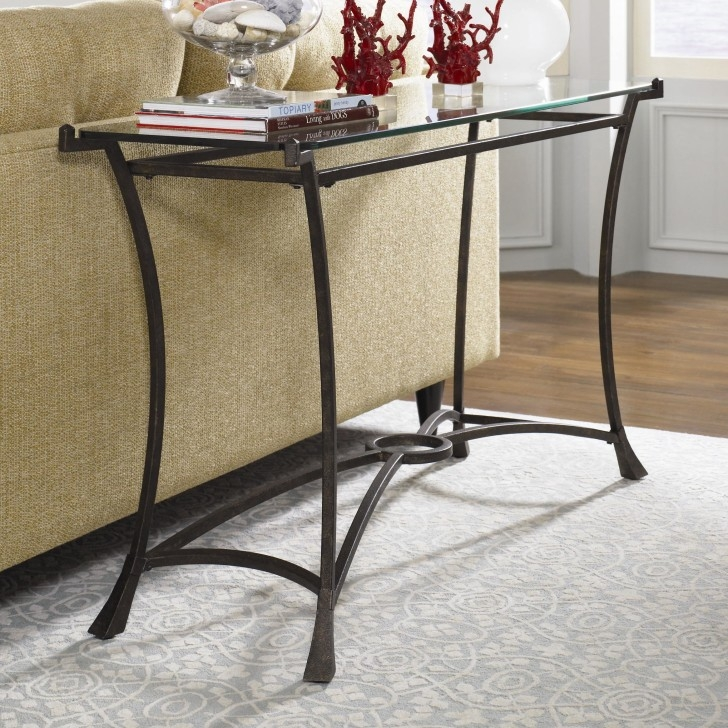 Rectangular Tranaprent Glass Sofa Table With Shelf And X Shaped With Regard To Metal Glass Sofa Tables (#15 of 15)