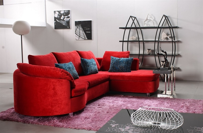 Red Sectional Sofa Microfiber 14 Interesting Red Microfiber With Red Microfiber Sectional Sofas (#12 of 15)