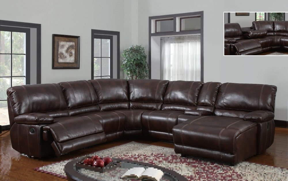 Remarkable Leather Recliner Sectional Sofa Reclining Sectional For Sectional Sofa Recliners (View 13 of 15)