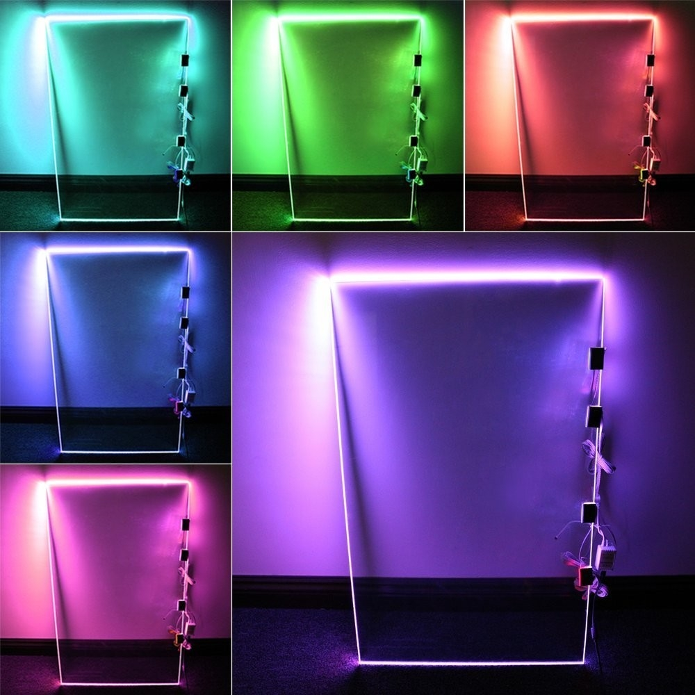 Inspiration about Rgb Led Glass Edge Lighting Kit Led Glass Shelf Lights Torchstar Inside Glass Shelves With Lights (#1 of 12)