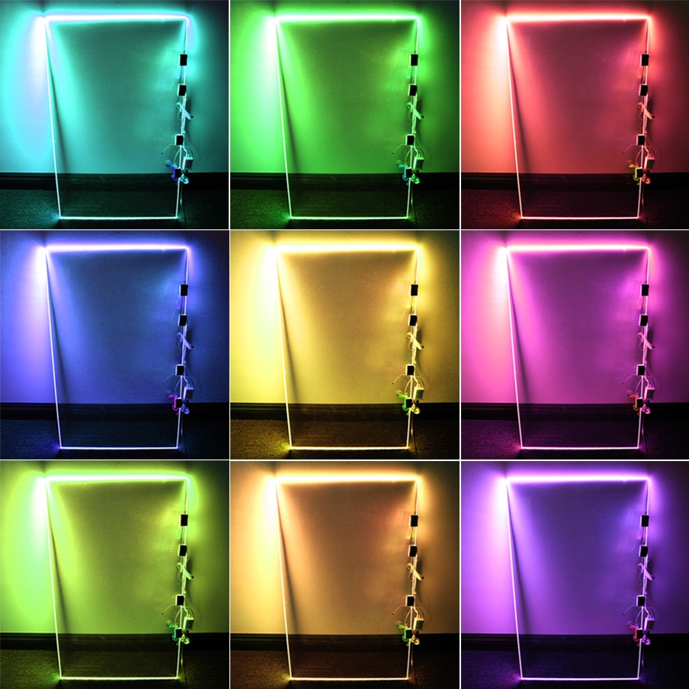 Rgb Led Glass Edge Lighting Kit Led Glass Shelf Lights Torchstar Pertaining To Glass Shelves With Lights (View 8 of 12)