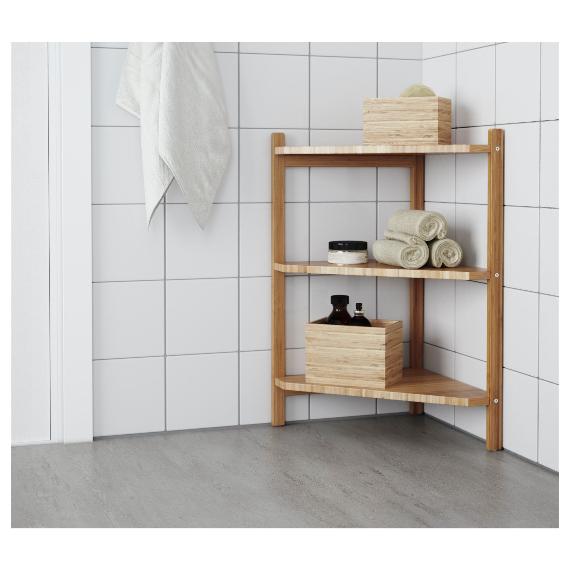 Rgrund Sink Shelfcorner Shelf Ikea Throughout Corner Shelf (#10 of 12)