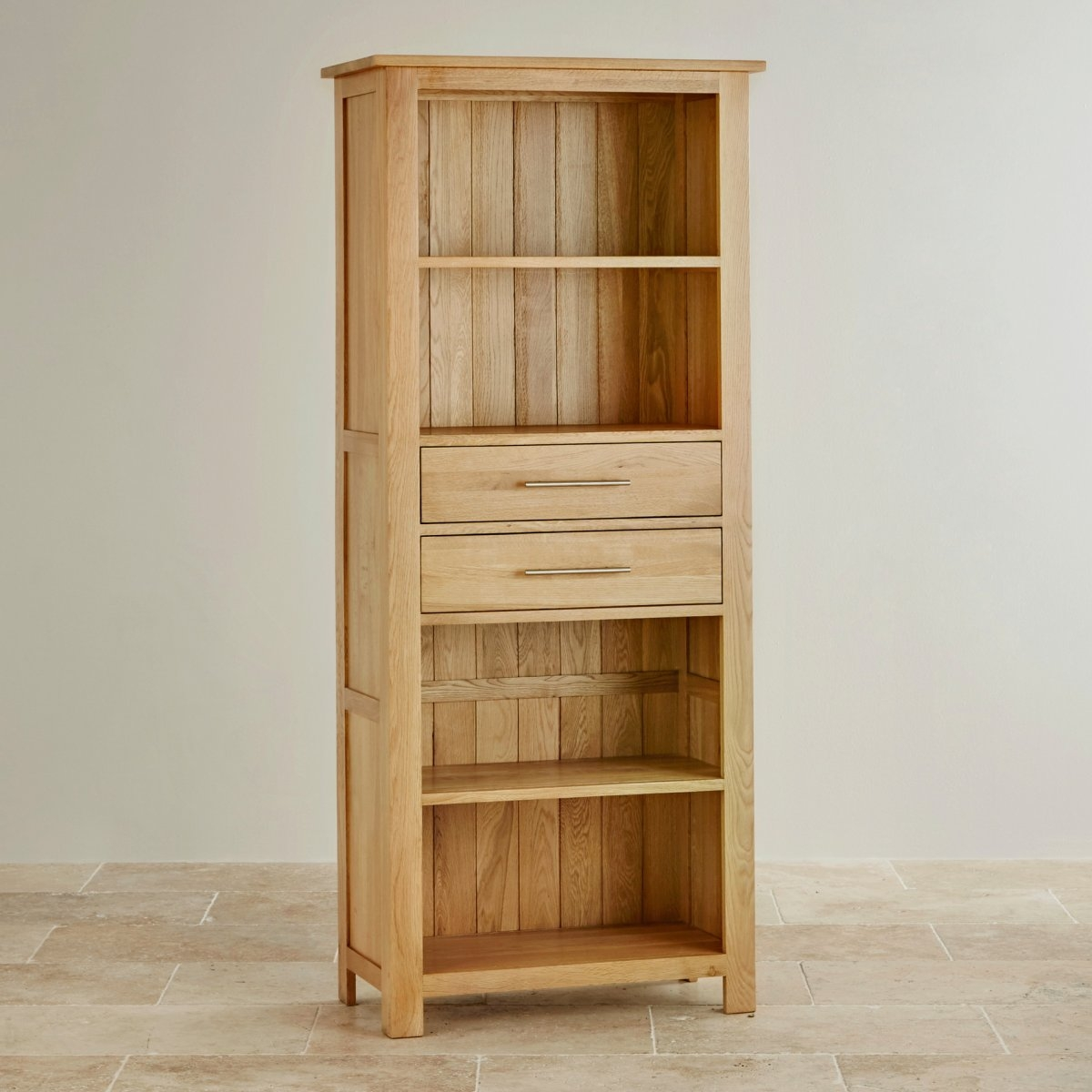 Rivermead Natural Solid Oak Bookcase Pertaining To Solid Oak Bookcase (View 5 of 15)